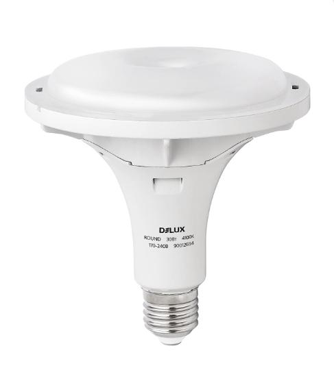 Светодиодная лампа DELUX ROUND 30w E27 4100K