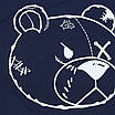 "Футболка мужская т синяя PHILIPP PLEIN с принтом ""МИШКА"" Ф-10 DBLU L(Р) 19-623-020, фото 2"