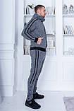 Трендовый спортивный костюм.  Ангора турецкого производства. Качественный пошив р.М,L,XL код 1-1967G, фото 7