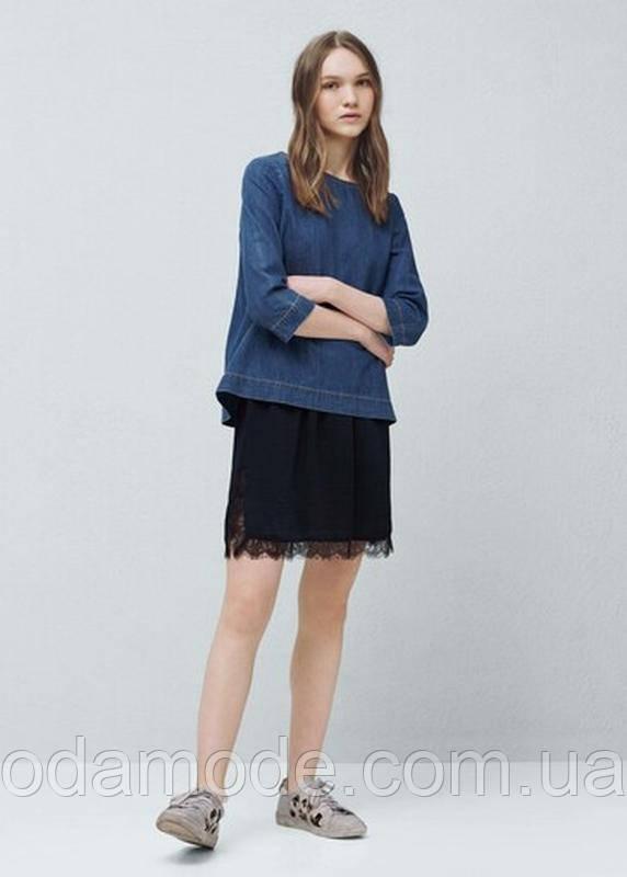 Женская юбка mango синяя