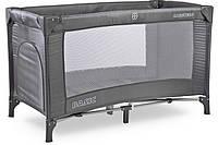 Детский манеж-кровать Caretero Basic Кроватка Graphite