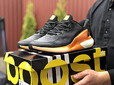 Мужские летние кроссовки Adidas Alphaboost,черные с оранжевым, фото 3