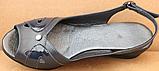 Босоніжки сині на повну ногу на танкетці шкіряні від виробника модель БД12-2, фото 4