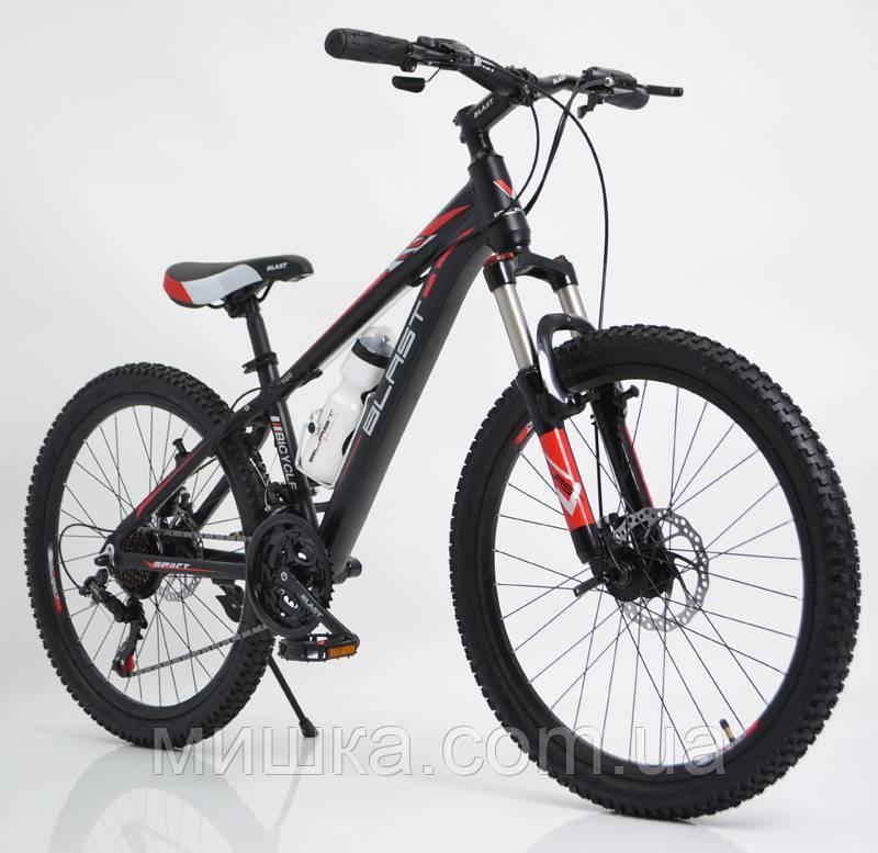 """Стильний спортивний велосипед BLAST-S300 24"""", рама 13"""", червоний"""