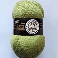 Мериносовая Пряжа Merino Gold Мерино Голд от Madame Tricote Paris Турция, разные цвета Салатовый