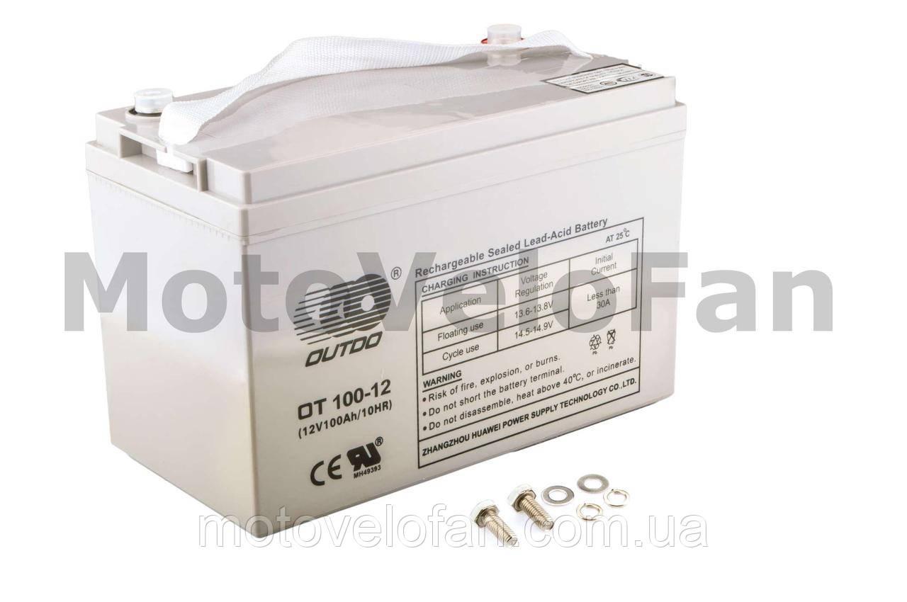 АКБ   12V 100А   AGM   (330x172x223, серый)   OUTDO
