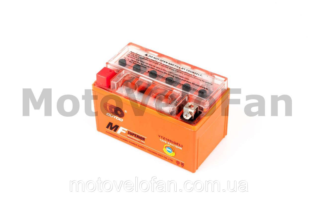 АКБ   12V 8,6А   гелевый   (150x85x95, оранжевый, mod:YTZ 10S)   OUTDO