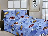 Комплект детского качественного постельного белья, полуторка, машина бмв