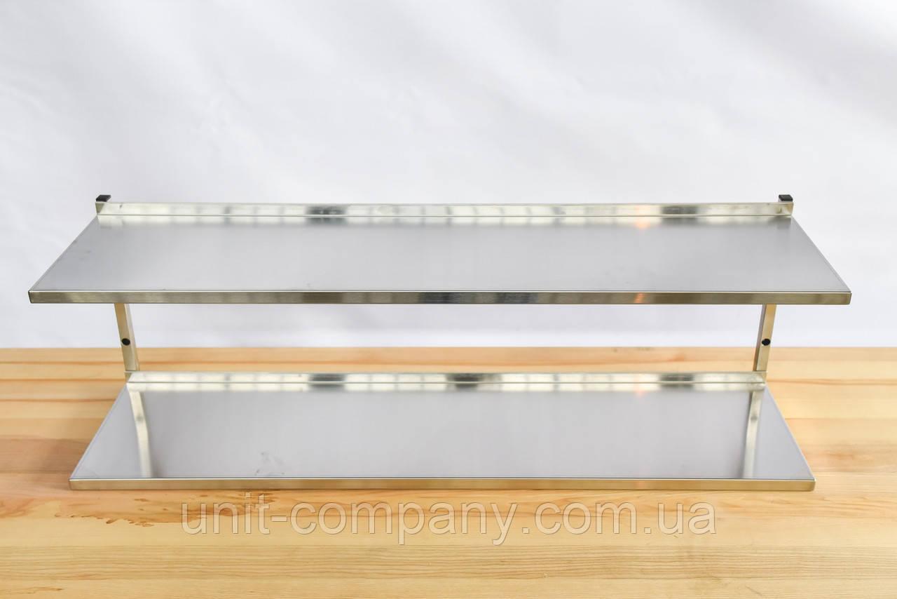 Полка кухонная настенная, кухонная полка двухъярусная