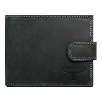 Мужское кожаное портмоне на застежке Buffalo Wild N992L-B-MHU Black