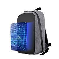 Эксклюзивный повседневный рюкзак с LED экраном (молния-антивор, водонепроницаемый) Серый