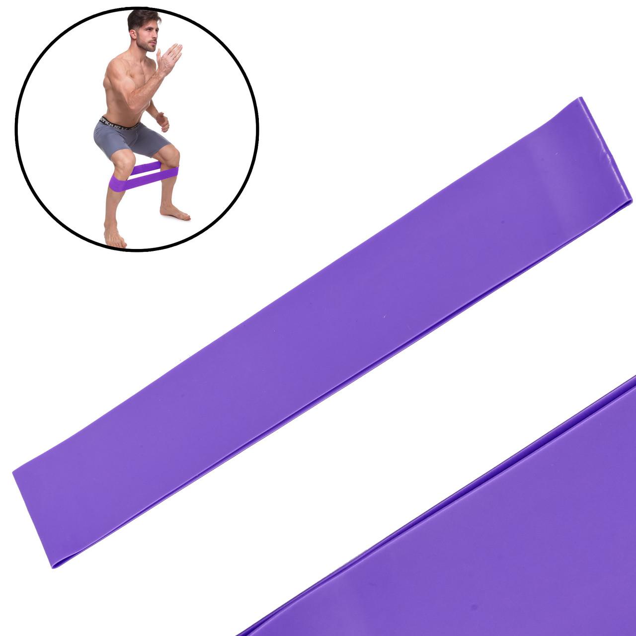Лента сопротивления LOOP BANDS LB-001-V (силикон, размер 600x60x0,6мм, жесткость S, фиолетовый)