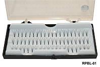 Ресницы пучки на белой ленте (8 мм), YRE