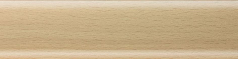Плинтус пластиковый Salag 01 бук светлый  с кабель каналом напольный пластиковый плинтус