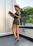 Юбка-шорты  льняные с карманом и пуговицами, 3цвета. Р-р.S-M,M-L Код 5100Ж, фото 3