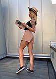 Юбка-шорты  льняные с карманом и пуговицами, 3цвета. Р-р.S-M,M-L Код 5100Ж, фото 7