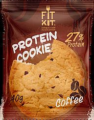 Протеиновое печенье Fit Kit   Кофе (40 грамм)