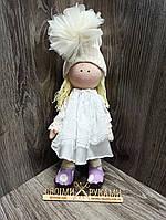Текстильная кукла Тильда в белом  ручная работа