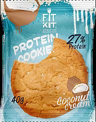 Протеиновое печенье Fit Kit  Кокосовый Крем (40 грамм)
