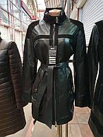 Женский кожаный кардиган