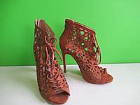 Туфлі шпилька замшеві на шнурівці Atmosphere, фото 1
