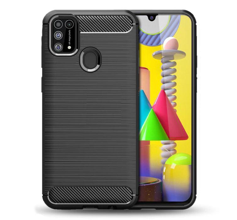 Чехол Primo Carbon Fiber Series для Samsung Galaxy M31 (SM-M315) - Black
