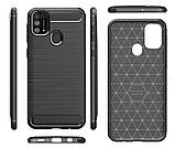 Чехол Primo Carbon Fiber Series для Samsung Galaxy M31 (SM-M315) - Black, фото 3