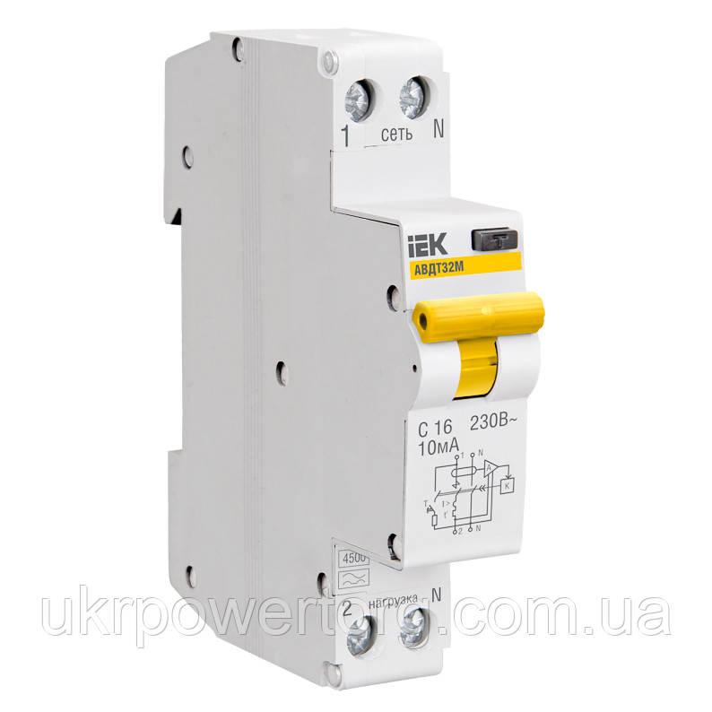 Автоматичний вимикач ВА47-29 1P 1 А х-ка C, IEK
