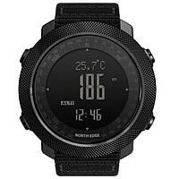 Мужские спортивные часы North Edge Apache 5BAR (водостойкость 50 метров, компас, барометр, педометр)