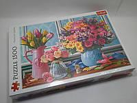 Пазлы Trefl 1500шт (26157) 58*85см (Квіти у вазонах)