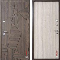 Дверь входная металлическая ZIMEN Aztec, Optima, Kale, Дуб галифакс шоколад / Молочный, 850x2050, левая