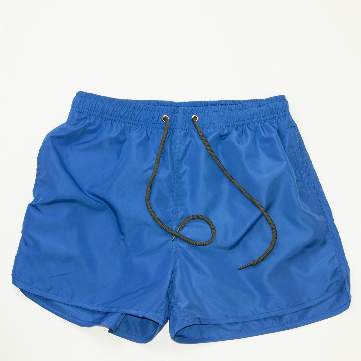 Детские пляжные шорты для купания (арт. 20159-А) синие