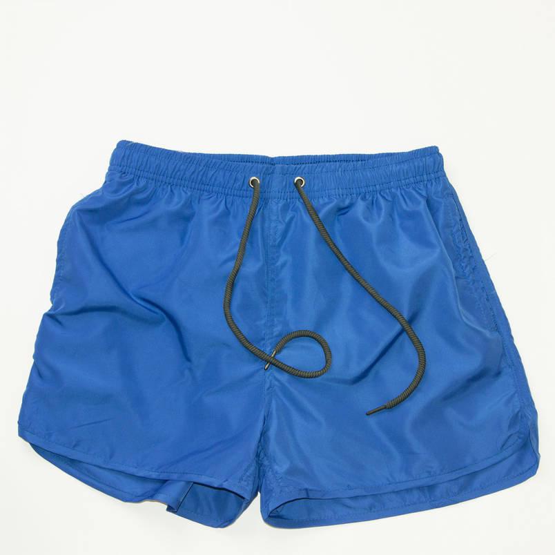 Детские пляжные шорты для купания (арт. 20159-А) синие, фото 2