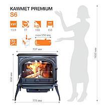 Печь камин чугунная KAWMET Premium S6 (13,9 kW), фото 2