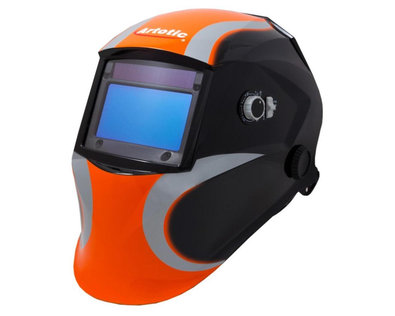 Сварочная маска Artotic SUN7B чёрно-оранжевая