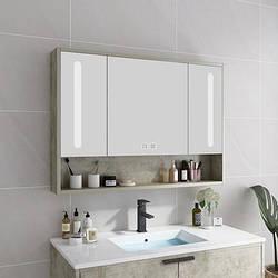 Шкаф из дерева с умным зеркалом для ванной. Модель RD-475