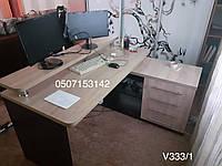 Угловой компьютерный стол с правосторонней тумбой. Модель V333/1