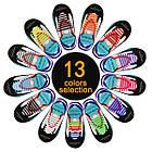 Шнурки силиконовые для обуви яркие модные разноцветные растягивающиеся Good-bye tir ОПТ, фото 4