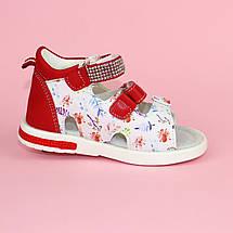 Красные Босоножки на девочку, детские сандалии с закрытой пяткой тм Том р.22,23,24, фото 2