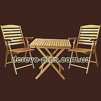 Комплект стіл розкладний з стільцями