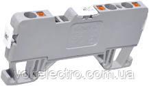Клема пружинна серії на DIN-рейку ( 2 введення / 2 виводу) 24А , 750В, з розмикачем