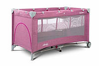 Детский манеж-кровать Сaretero Basic Plus Кроватка (Розовый)