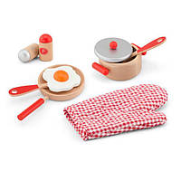 """Игровой набор Viga Toys """"Маленький повар"""", красный (50721)"""