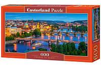 Пазлы Castorland  600шт (060061) 68*30 см (Ночная Прага)