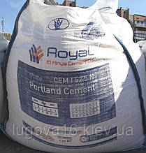 Белый цемент Royal El Minya Cement CEM I 52,2 N, биг-бег 1250 кг
