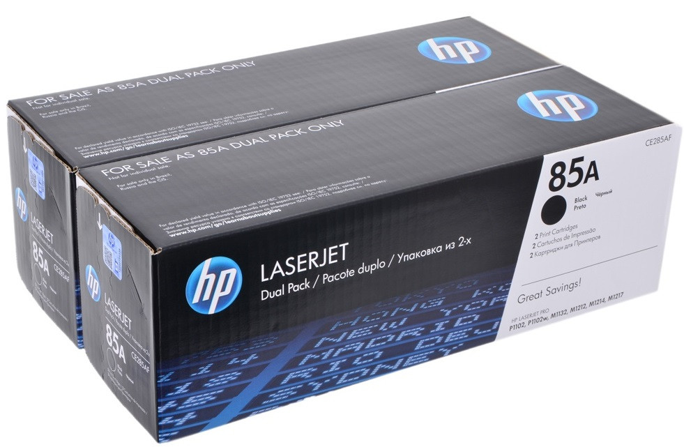 Тонер-картридж HP 85A LJ P1102/1102w Dual Pack Black 1600 страниц