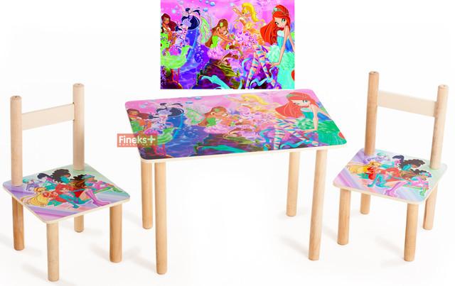 """Детский набор стол и 2 стульчика """"Винкс"""""""
