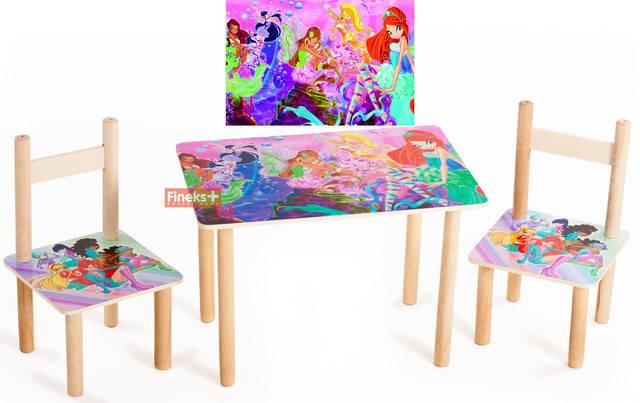 """Детский набор стол и 2 стульчика """"Винкс"""", фото 2"""