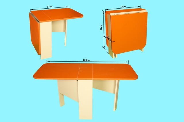 Детский стол-пенал, оранжевый