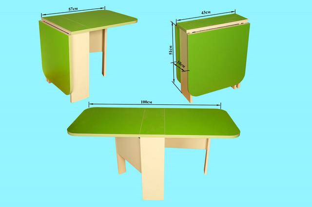 Детский стол-пенал, салатовый
